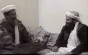 Osama bin Laden with Bosnian jihad veteran Khaled al-Harbi (on right), Afghanistan, November 2001
