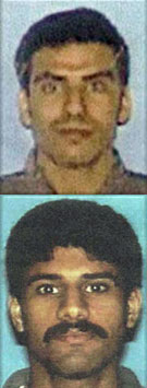 Top to bottom: Bosnian jihad veterans Khalid al Mindhar and Nawaf al Hazmi, hijackers of AA Flight 77 on 9/11