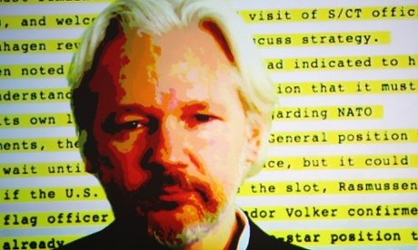 Assange joins party for his book When Google Met WikiLeaks to discuss the consequences of Google's power in the 21st century