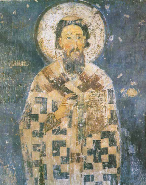 Свети Сава, фреска из манастира Милешева