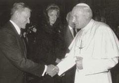 Збигњев Бжежински и папа Војтила, у Ватикану 1983. године