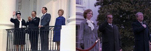 """Јосип Броз приликом сусрета са председницима САД Ричардом Никсоном (1971) и Џејмсом (Џимијем) Картером (1978) у Белој кући, фото: """"Википедија"""""""