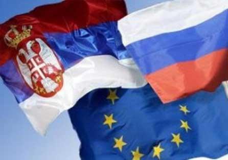Заставе Србије, Русије и ЕУ
