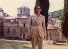 Комнен Бећировић у Хиландару, августа 1977.