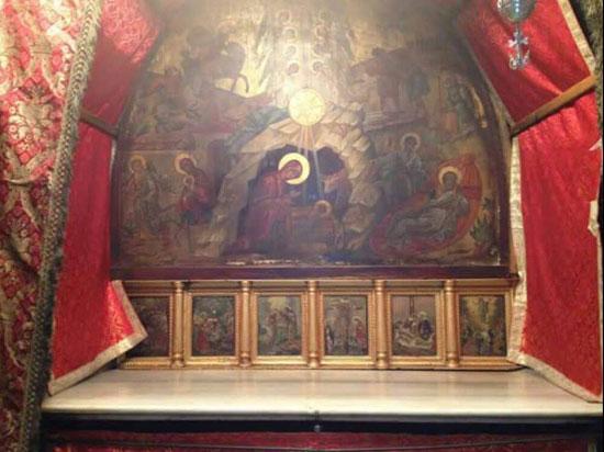 Витлејем, икона изнад звезде, места рођења нашег Господа