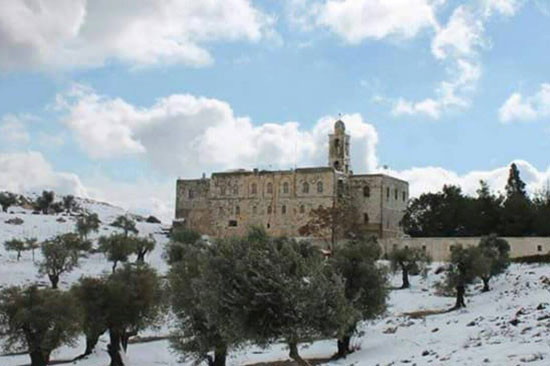 Црква посвећена Светом Илији, на пола пута између Јерусалима и Витлејема