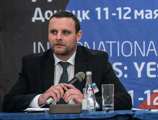 "Manuel Ochseinreiter in Donetsk аt the conference ""Donbas yesterday, today, tomorrow"""