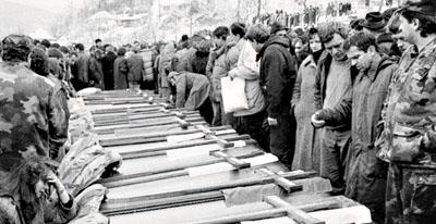 Сахрана српских жртава Сребренице