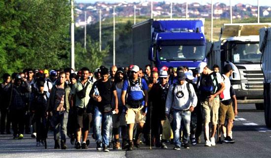 Мигранти у Прешеву