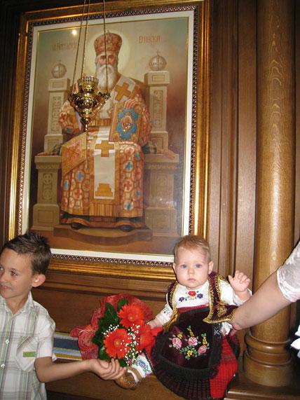 Свети Нектарије и мала Нектарија из Обреновца