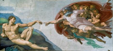 Стварање Адама, Микеланђело