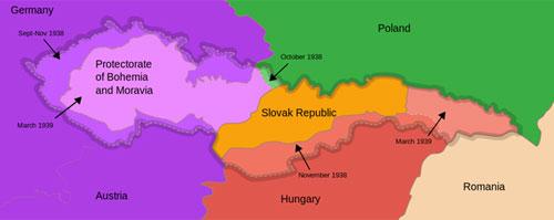 """Комадање Чехословачке (1938-1939), извор: """"Википедија"""""""