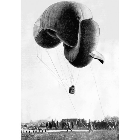 Осматрачки змај-балон српске војске (Фото: Историјски архив Пожаревац)