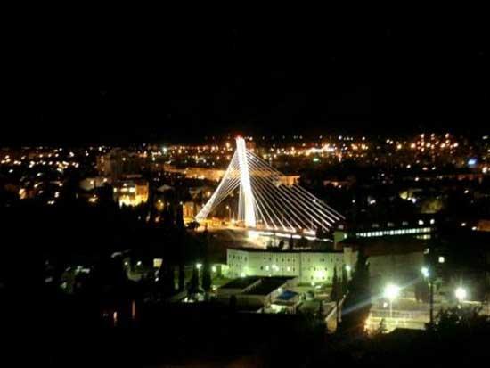 Подгорица ноћу (Извор:  Cafe del Montenegro)