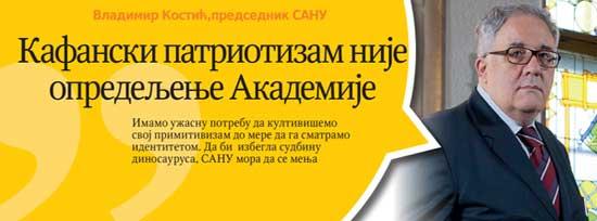 Једна ранија изјава председника САНУ Владимира Костића
