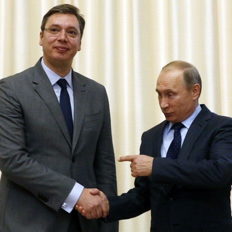 Александар Вучић и Владимир Путин