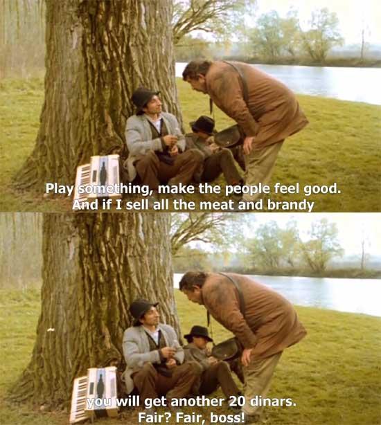 """Сцене из филма """"Ко то тамо пева"""" са енглеским титлом"""