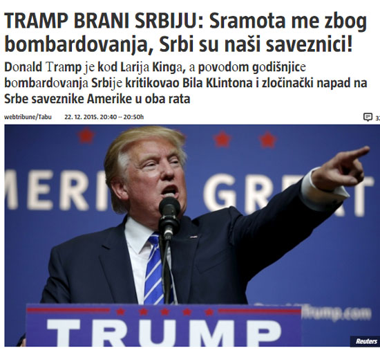"""Вест"" о Трампу на сајту Информера"