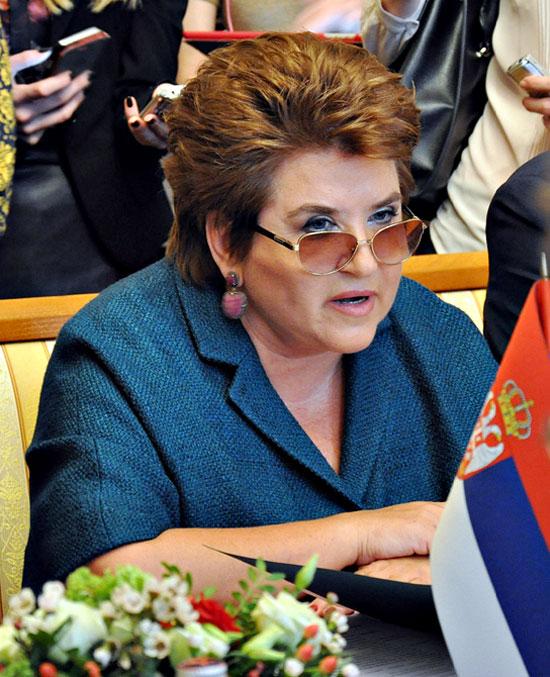 Руководитель Россотрудничества Л.Н.Глебова. Фото Елены Оганесян.