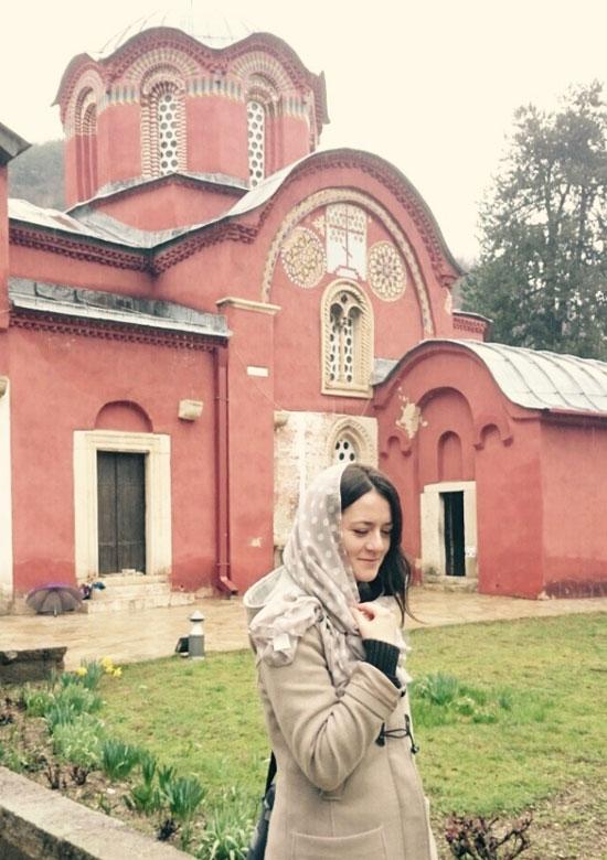 Јована Сикимић у Пећкој патријаршији