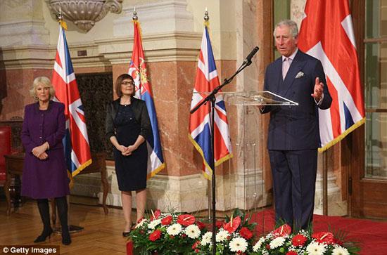 Принц Чарлс говори на пријему у Скупштини Србији који је приредила Маја Гојковић