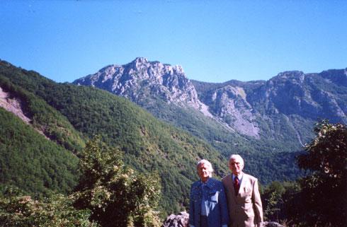 Франц Вебер и Комнен Већировић у Љевиштима, 2004.