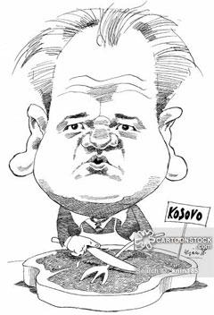 "Слободан Милошевић као ""Балкански касапин"" (Аутор: Nilsson-Maki, Kjell)"
