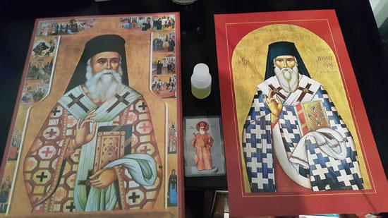 Свети Нектарије Егински – иконe са чудотворним уљем
