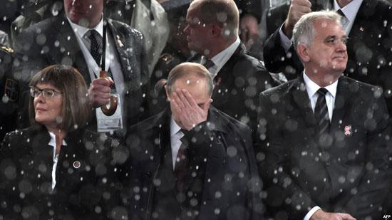 Председник Русије Владимир Путин на паради у Београду