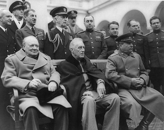 Черчил, Рузвелт и Стаљин на Јалти 1945. (Фото: Википедија)