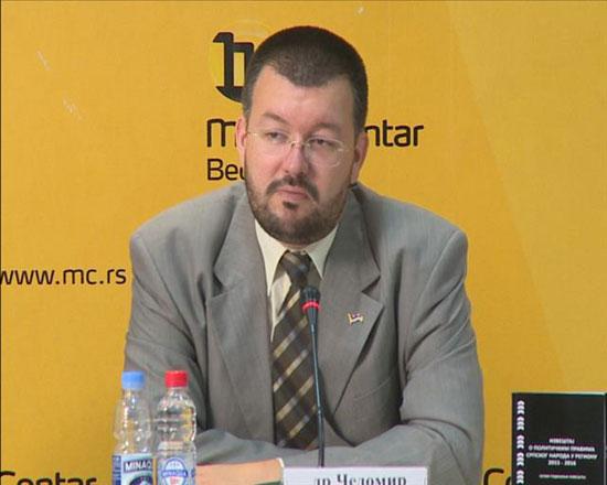 Чедомир Антић на представљању  Извештаја (Фото: Танјуг)