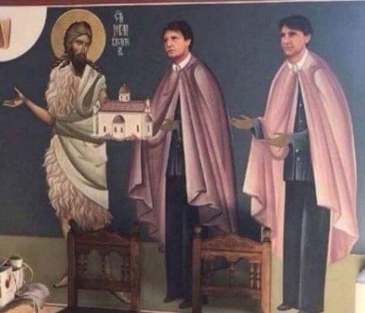 Свети Јован Крститељ поред Братислава Гашића и брата му (Извор: Курир)