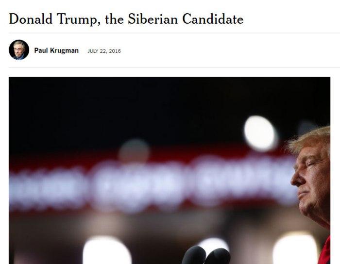 """""""Сибирски кандидат"""": Колумна Пола Кругмана у """"Њујорк тајмсу"""""""