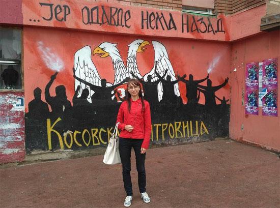Оксана Сазонова на КиМ (Извор: Њуз фронт)