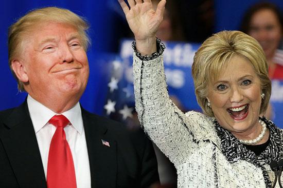 Д. Трамп и Х. Клинтон