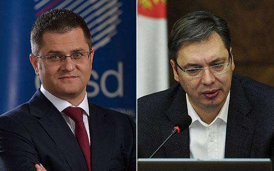Вук Јеремић и Александар Вучић (Извор: Телепромптер)