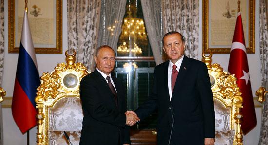 Путин и Ердоган )Фото: REUTERS/ Kayhan Ozer/Presidential Palace
