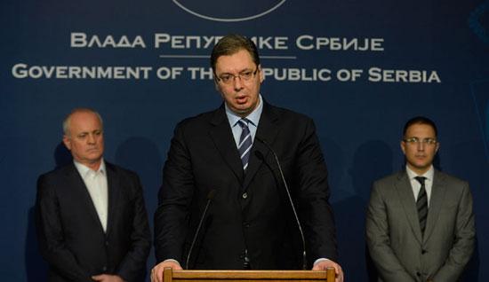 Александар Вучић на конференцији за медијe (Фото: Танјуг)