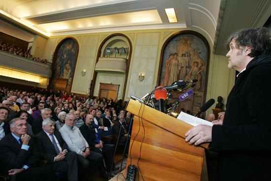 Предавање Емира Кустурице у САНУ (Фото: Фонет)