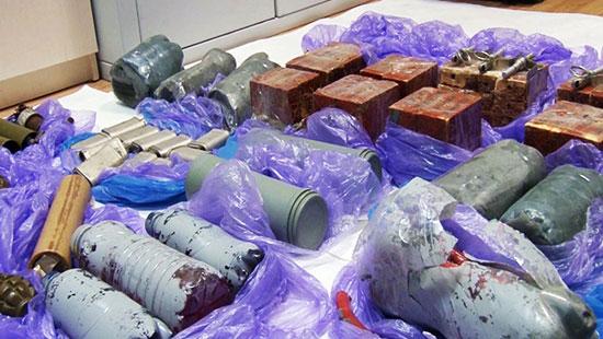 Експлозив који су припремили украјински диверзанти за нападе на Криму (Извор: Газета.ру)