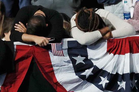 Нераспложење присталица Хилари Клинтон (Фото Ројтерс)