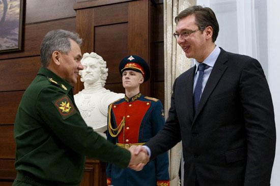 Сергеј Шојгу и Александар Вучић у Москви (Вадим Савицки/РИА Новости)