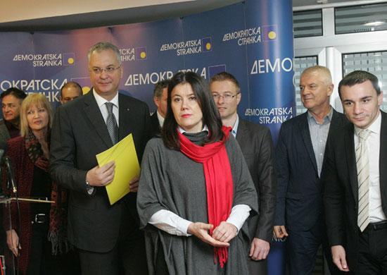 Са конференције за штампу Демократске странке (Фото: Р. Крстинић)
