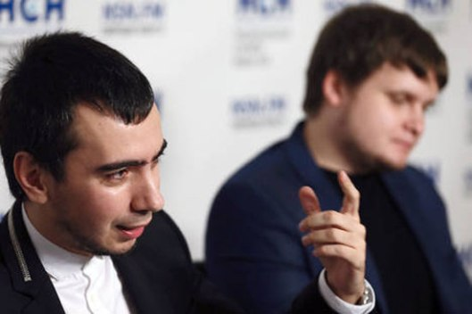 "Владимир ""Вован"" Краснов и Алексеј ""Лексус"" Стољаров (Фото: Александар Шчербак/TAСС)"