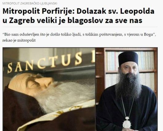 Митрополит Порфирије о Леополду Мандићу (Извор: Bitno.net)