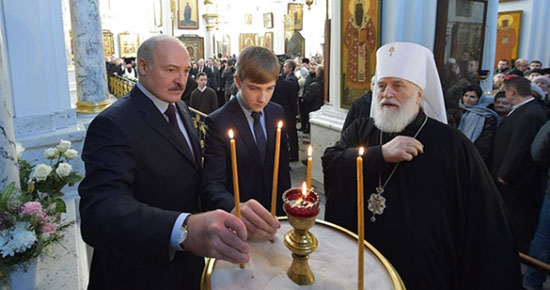Председник Лукашенко у храму (Фото:  President.gov.by)