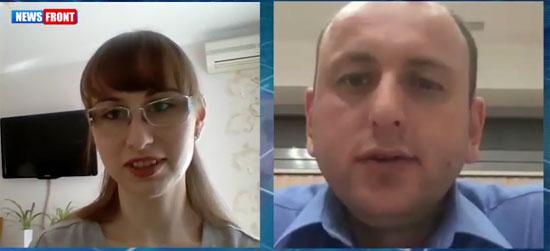 Оксана Сазонова и Милан Кнежевић