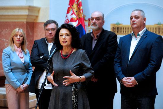 Чланови новог посланичког клуба (Фото Танјуг/Д. Г.)