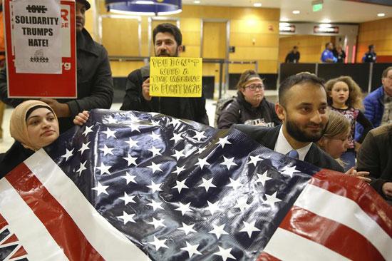 Против Трампове уредбе о забрани уласка у САД грађанима седам муслиманских земаља (Извог: Мондо)