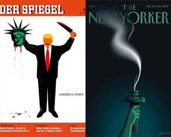 """Трамп напаст"": Насловне стране Шпигла и Њујоркера"